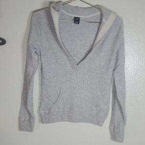 GAP Cashmere V-neck hooded Sweater
